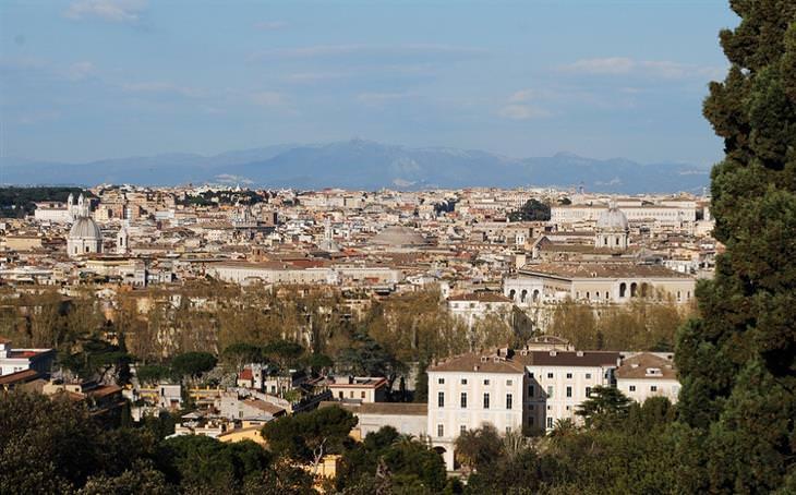 אטרקציות ברומא: הנוף מגבעת ג'אניקולו