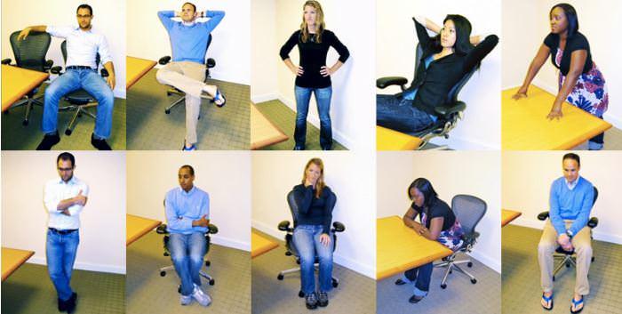 דרכים להפחתת לחץ: אנשים בתנוחות כוח שונות