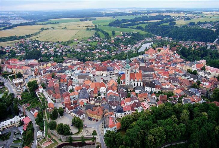 עיירות ציוריות בצ'כיה: טאבור ממעל
