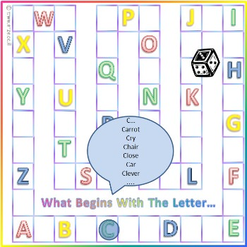 משחקי לוח לכל המשפחה: מה מתחיל באות? גרסת השפה האנגלית