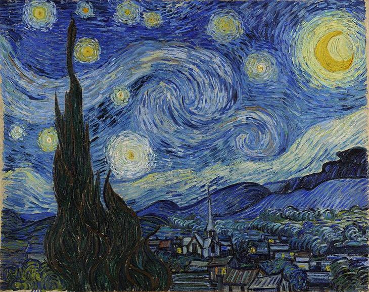 """מדריך לצייר המתחיל: """"ליל כוכבים"""" של וינסטנט ואן גוך"""