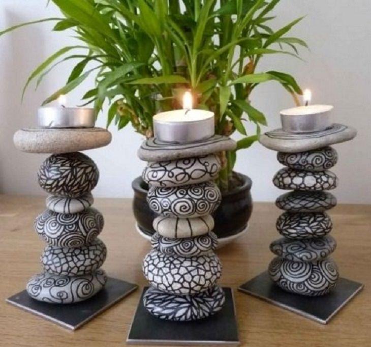יצירות שאפשר להכין מאבנים: פמוטים