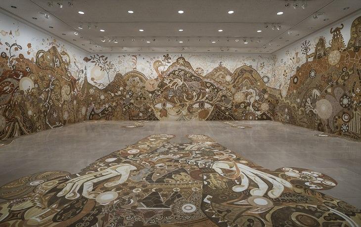 אמן יפני הופך בוץ לציורים מדהימים ביופיים