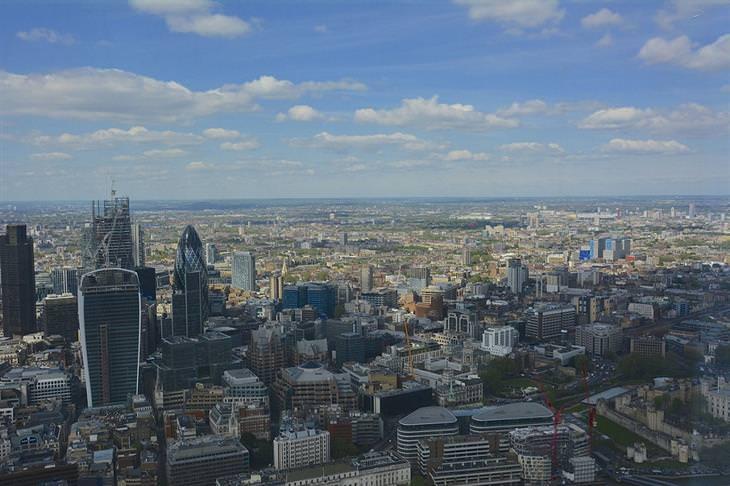לונדון מתצפית גבוהה