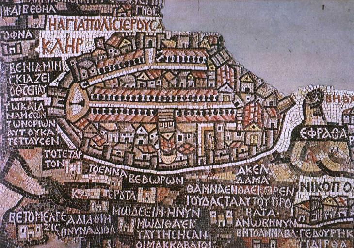 מפת פסיפס של ירושלים