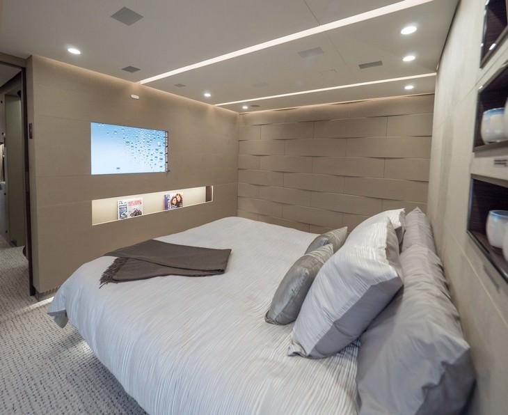חדר השינה המרכזי בבואינג 787-8 BBJ