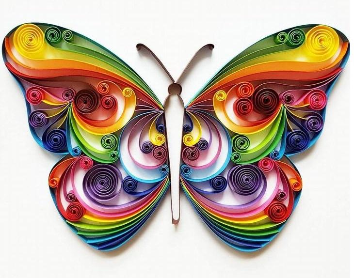 יצירות אומנות קווילינג של גרגנה פנצ'יבה: פרפר