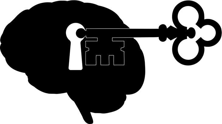 הטיות קוגניטיביות: מפתח ומוח עם חור מנעול