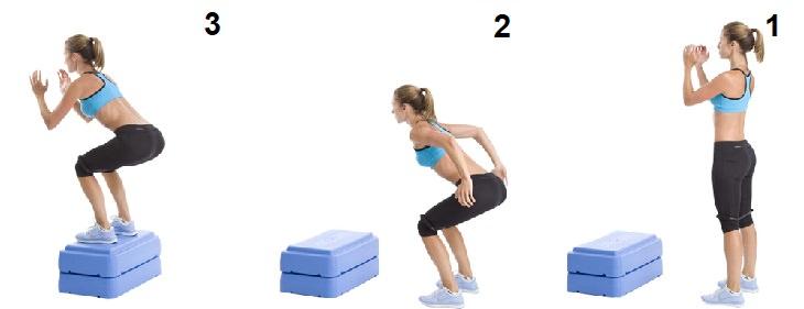 אימונים מתומצתים: תרגיל קפיצה על קופסה