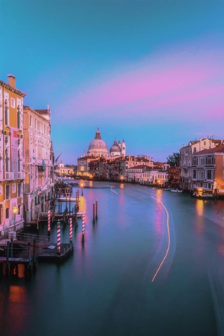 תמונות מיוחדות מאיטליה: מבט על העיר ונציה
