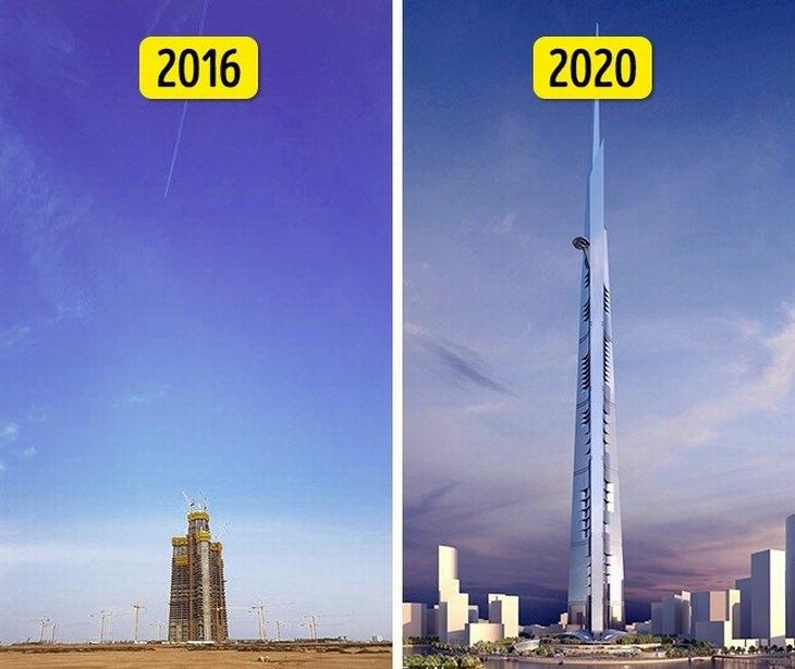 הדברים שצפויים לקרות בעתיד: מגדל ג'דה ב-2016 וב-2020