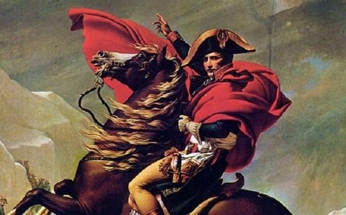 ציור של נפוליאון רכוב על סוס