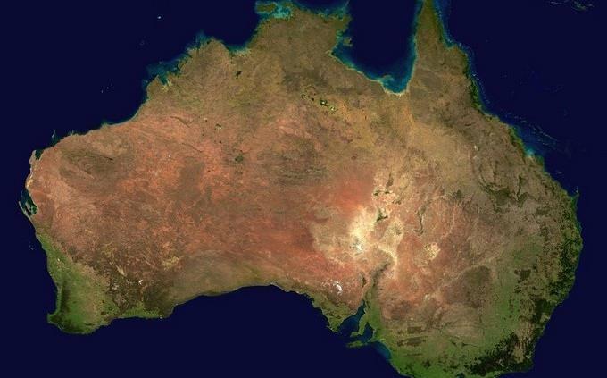 מפה של אוסטרליה