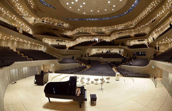 אולם הקונצרטים החדש בהמבורג: פנים האולם