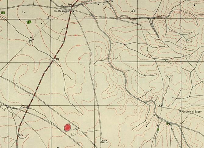 מפת ישראל בימי השלטון הבריטי