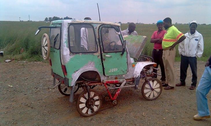 דברים מצחיקים שרואים רק באפריקה: מכונית תוצרת בית