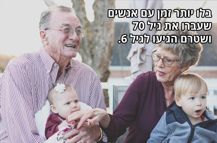 עצות לחיים טובים: בלו יותר זמן עם אנשים שעברו את גיל 70 ושטרם הגיעו לגיל 6.