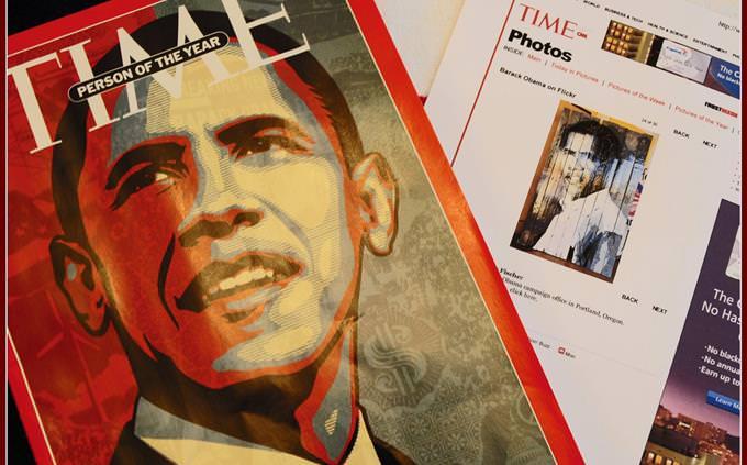מגזין טיים עם הנשיא אובמה על השער