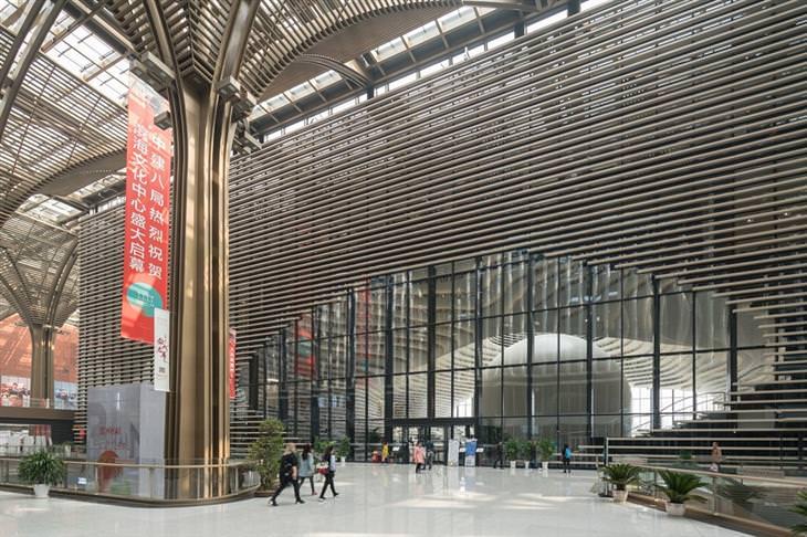 הספריה העתידנית בטייג'ין: מבנה הספרייה מבחוץ