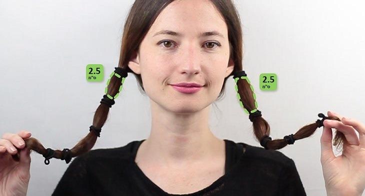 נזק של שינה עם שיער רטוב ומניעתו: אישה בתסרוקת קוקיות