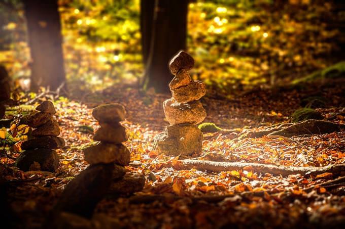 בחן את עצמך: 3 ערמות אבנים בחורשה