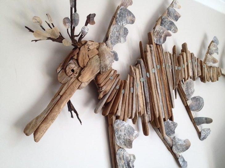 אומנות מדהימה מעצי סחף - סוסון ים