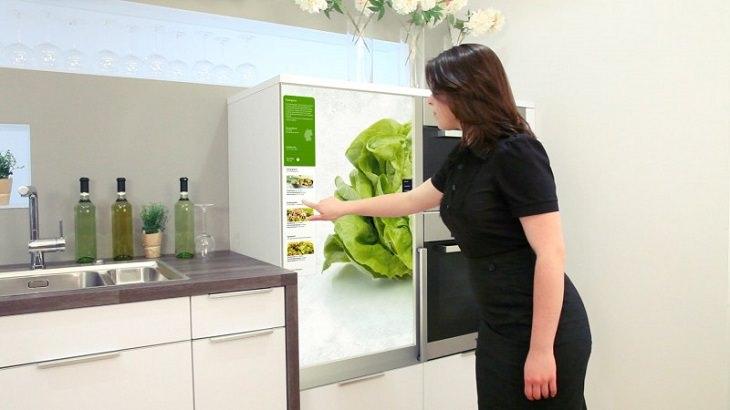 מטבח עתידני: מקרר שלא צריך לפתוח