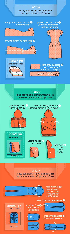 איך לקפל את הבגדים בצורה שחוסכת מקום