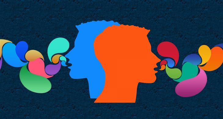 ציטוטים של קרל יונג: איורים של ראשים של אנשים ובועיות יוצאות מפיהם