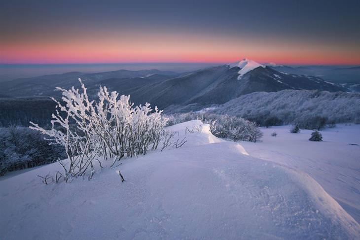 הרי פולין בחורף