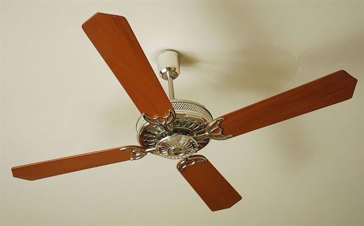 אזהרות בנוגע לתנורי חימום: מאוורר תקרה