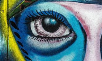 ציור קיר של עין