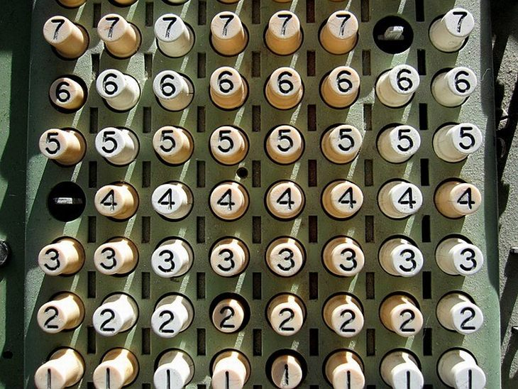 כפתורים עם מספרים