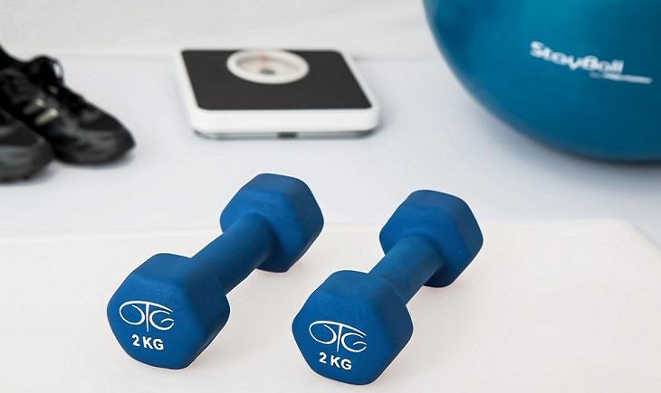 משקולות, משקל ונעלי ספורט
