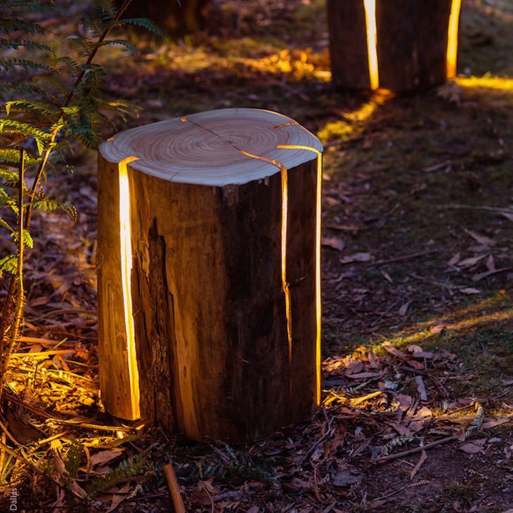מנורת בול עץ
