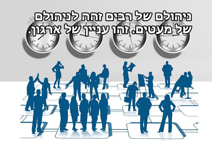 ניהולם של רבים זהה לניהולם של מעטים. זהו עניין של ארגון.