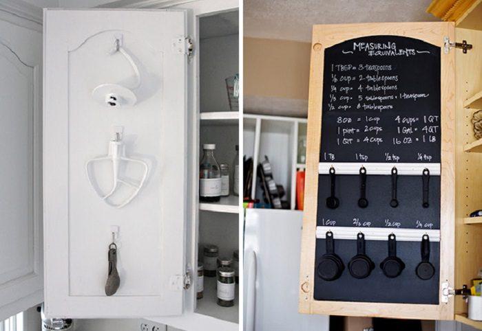 לוח גיר על דלת ארון מטבח