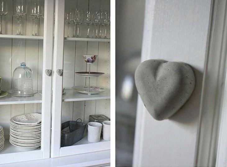 ידיות מבטון בצורת לב