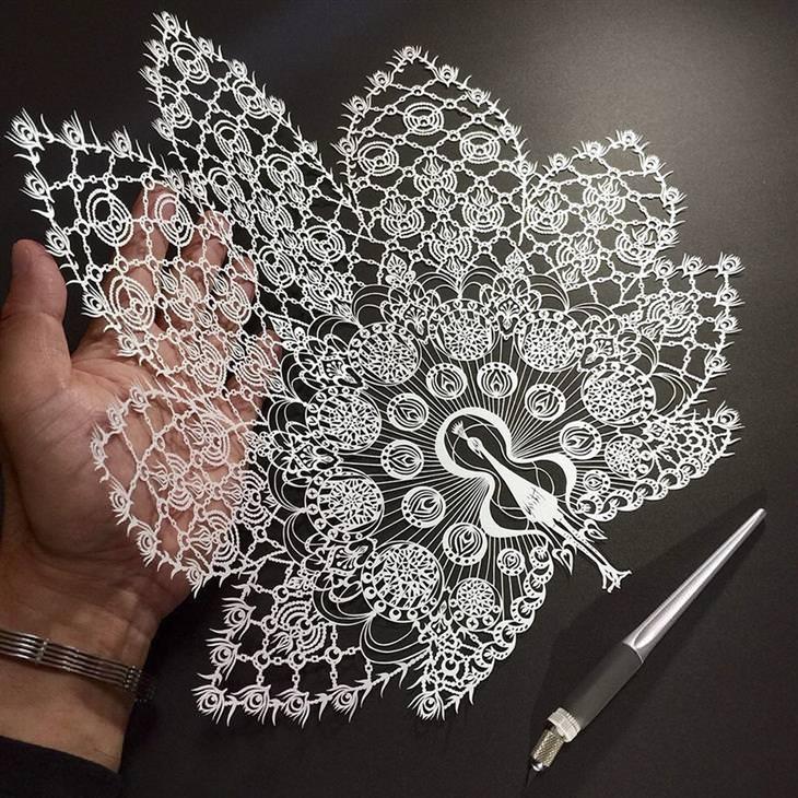 יצירות חיתוך נייר