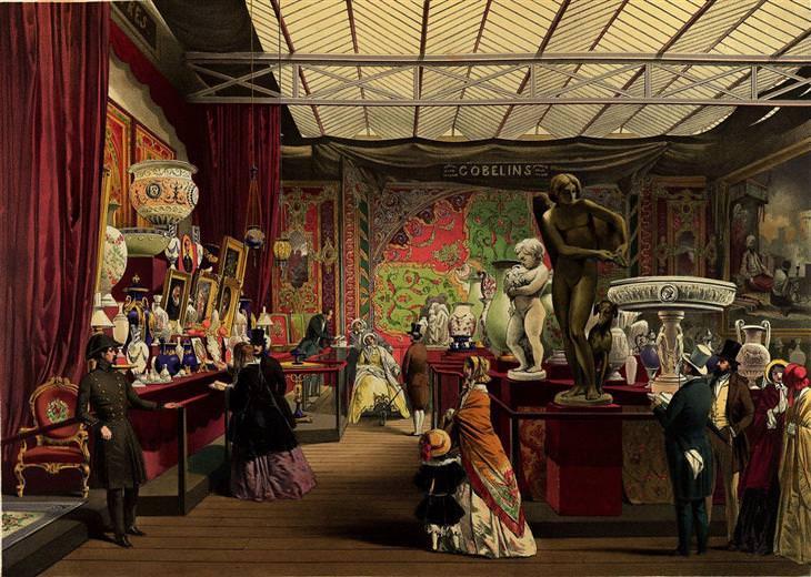 גלויות מהיריד העולמי משנת 1851