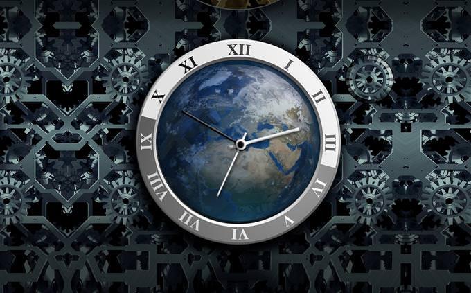 כדור הארץ בתוך שעון