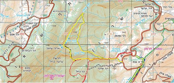 מפת מסלול למיטבי לכת: נחל שיאון