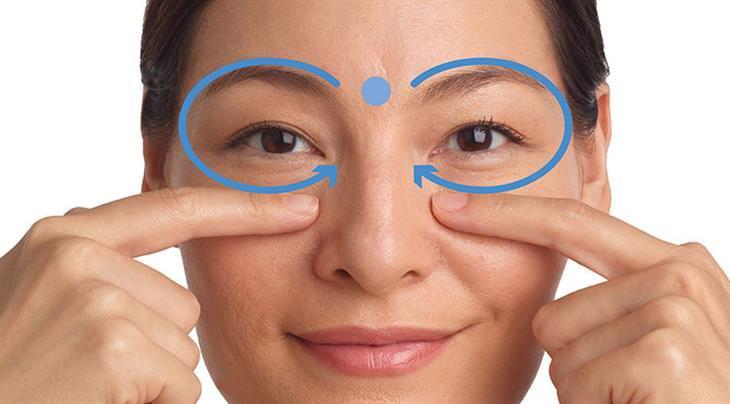 נקודות לחיצה לשיפור הראייה: נקודת לחיצה סביב ארובת העין