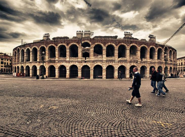מסלול טיול באיטליה: הארנה של ורונה