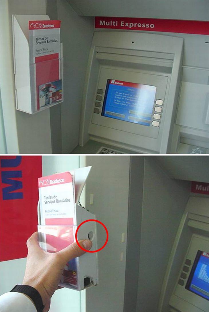 תרמיות בכספומטים: חפץ חשוד בצד המכונה שמסתיר בתוכו מצלמה
