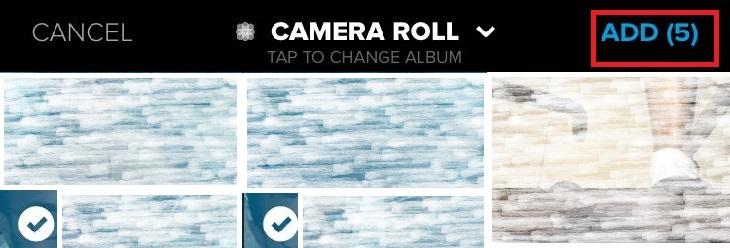 הוספת תמונות באייפון