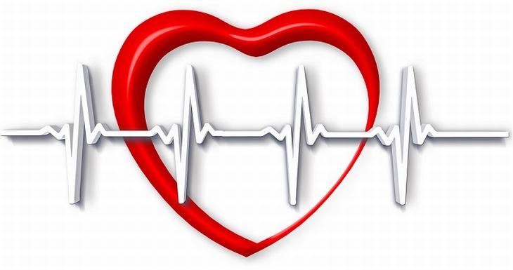איור של לב וקווי מוניטור