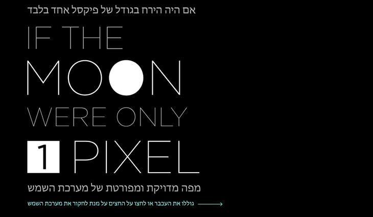 אתרים שכדאי להכיר: : אם הירח היה בגודל פיקסל