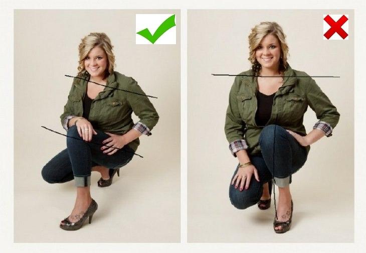 אישה מדגימה איך להצטלם פוטוגני