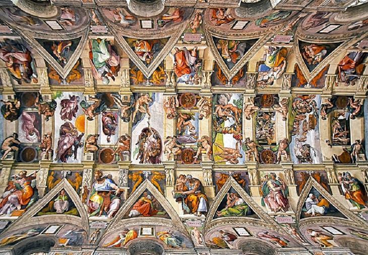 תקרות של כנסיות ברומא: הקפלה הסיסטינית